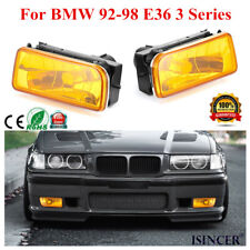 For BMW 92-98 E36 3 Series Replacement Fog Light Yellow Lens Bulb Kits HOT