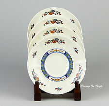 Set of 4 Saucers, SUPERB! Chinese Teal, Wedgwood, Barlaston of Eturia
