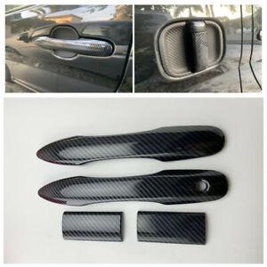 For Toyota HiAce Granvia 2019 2020 Carbon Black Side Door Handle Cover Trim 4pcs