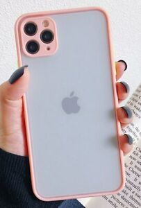 FREE tempered Glass + Pink Clear SHOCKPROOF Cover For iPhone X XS 10 Bumper Case