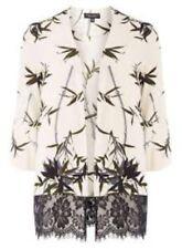 Dorothy Perkins Leaf Print Lace Hem Cover up Size UK 16 Lf085 JJ 10