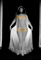 nude girl in strange light, transparent nightgown 1970s orig. fine art negative