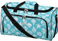 Leisure Luggage 20'' Lafayette Azure Shells Duffel Bag Luggage 20 Inches Aqua