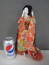 Asian Oriental Geisha Doll Figurine in Standing Pose 13 1/2'' tall Vtg 60s -70s