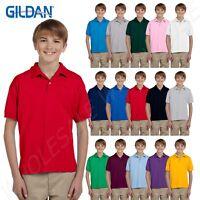 NEW Gildan Youth DryBlend Short Sleeve 50/50 Sport Polo Shirt M-G880B