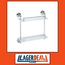 Glasablage 2 Ablage 400x420x120mm Chrom Badartikel Bad Zubehör Lagerdeal WOW
