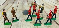 8 Vtg lead Soldiers Orchestra Band Figurines Military 3""