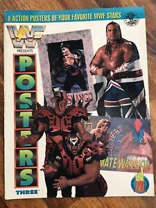 WWF POSTER MAGAZINE  - WWF MAGAZINE - ROAD WARRIOR POSTER - 10 FULL SIZE POSTERS