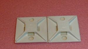NEW 50PCS PANDUIT ABM2S-A-D Cable Tie Mount Acrylonitrile Butadiene White 4-way
