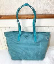 [RRP £895] Genuine PRADA Made-in-Italy Nylon Fabric Cornflower Blue Handbag