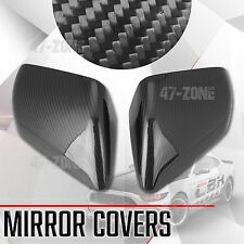 For 15 16 17 Ford Mustang Gloss Real Carbon Fiber Side Mirror Cover Overlay Trim