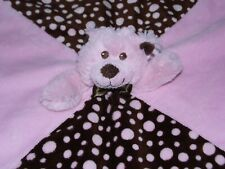 MARY MEYER PINK BEAR COMFORTER SOFT TOY BROWN DOTTY BLANKIE DOUDOU