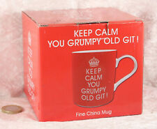 Keep Calm you grumpy old git red tea mug cup still boxed new
