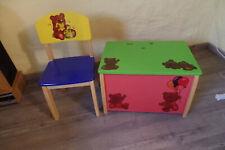 Kindermöbel Holz bunt gebaucht sehr guter Zustand