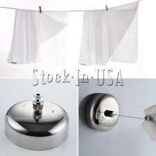 Stainless Steel Retractable Clothes Line Dryer Indoor Outdoor Laundry 2.5m New