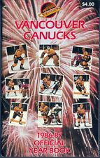 1986-87 VANCOUVER CANUCKS HOCKEY YEARBOOK GUIDE With Stan Smyl Richard Brodeur