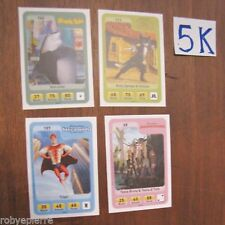 4 Figurina figurine carta carte esselunga eroi dreamworks NUOVE 68 111 142 157