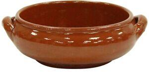 Set of 4 Terracotta Moroccan Stoneware Soup Bowls With Handles Soup Bowl Set