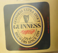 BRITISH VINTAGE BEER LABEL - SAMUEL SMITH, NORTH YORKS. GUINNESS EXTRA STOUT