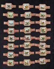 Série complète de 24  Bagues  de Cigare Label Romano BN10293 Monnaies romaines