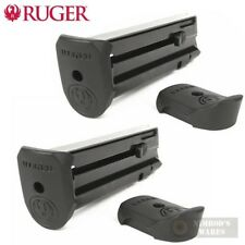 TWO Ruger SR22P Mag-10 .22 Caliber Magazines w/ Extensions 90382