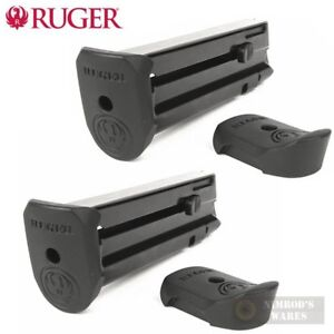 TWO Ruger SR22P Mag-10 .22 Caliber Magazines w/ Extensions 90382 FAST SHIP