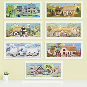 Long Stitch Lanes Collection Craft Kits in 14ct Pre-Printed Anchor Wool Canvas