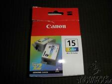 New Open Box Sealed Bag Genuine OEM Canon BCI-15 Color Inkjet Twin Pack BCI15CLR