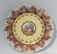 1960s HUTSCHENREUTHER FRAGONARD LOVE STORY Cabinet LARGE CAKE PLATE - Mint Cond