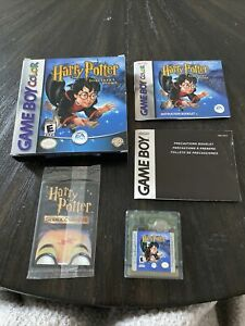 Nintendo Gameboy Color Game Harry Potter And The Sorcerers Stone CIB Complete