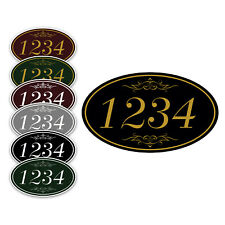 Personalized Number Plate 12 X 7 Oval Wall Or Door Sign With Choice Of Colors