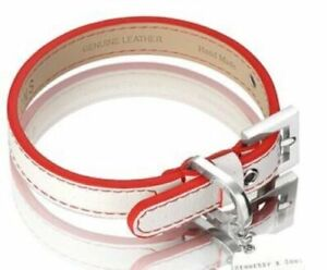 Hennessy & Sons Genuine Real Leather Luxury Dog Collar LARGE