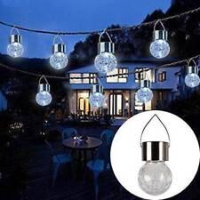 Garden Decoration Outdoor Lighting Solar Bulb Crackle Glass Ball LED Bulbs Lamp