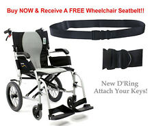 Karman S-2512 Aluminum ErgoFlight Lightweight Transport Wheelchair S-2512F16S-TP