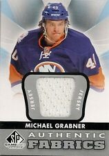 MICHAEL GRABNER LOT OF (2) DIFFERENT GAME USED JERSEY CARDS - ISLANDERS