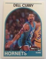 Dell Curry 1989 Hoops Hand Signed Card Charlotte Hornets