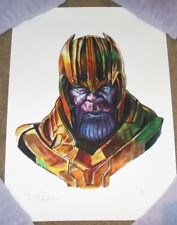 THANOS grimace poster print Shiny Objects giclee watercolor avengers TIM DOYLE