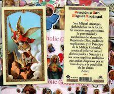 Oracion a San Miguel Arcangel - Spanish - Laminated Holy Card