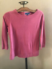 pink KAREN SCOTT pull over sweater size medium