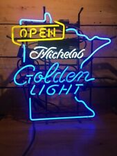 """New Open Michelob Golden Light Mn Beer Bar Light Lamp Neon Sign 24""""x20"""""""