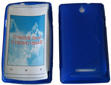 Funda GEL TPU Blando Patrón Azul para Sony Xperia/Dual C1605 C1505 C1504 E