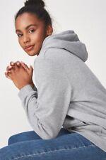 Factorie Womens Basic Hoodie Fleece Tops  In  Grey