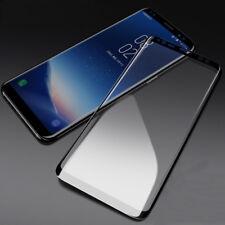 Cubierta de pantalla completa Samsung Galaxy S9 protector de pantalla de vidrio templado curvado Negro
