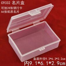 5Pcs PP Box Playing Cards Case Plastic Storage Business Card Holder Boxes Case