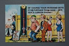 R&L Postcard: Cardtoon C65 Fairground Game Test Your Strength Strong Man