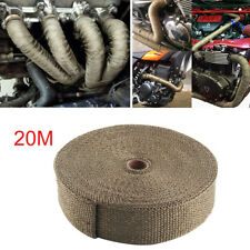 20M TITANIUM EXHAUST HEAT WRAP EXHAUST MANIFOLD GOLD HIGH TEMP INSULATING