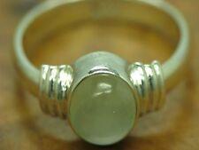 925 STERLING SILBER RING + PREHNIT BESATZ 3,6 g. / ECHTSILBER / RG 55 / 3,6g