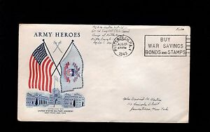 WWII Patriotic Military Free Flags Army Academy Heroes Pittsburgh 1943 Cover 3o