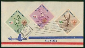 Mayfairstamps Dominican Republic FDC 1957 Olympic Sports Combo First Day Cover w