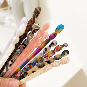 Vintage Hair Stick Women 18cm Long Acetate Chopstick Hair Stick Hair Accessories